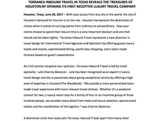 Terranea Inbound Travel is positioned to lead Receptive Tourism in the Texas Region