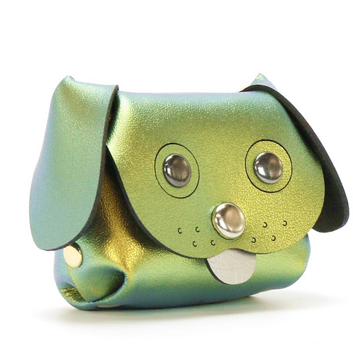 Emerald Dog Coin Purse
