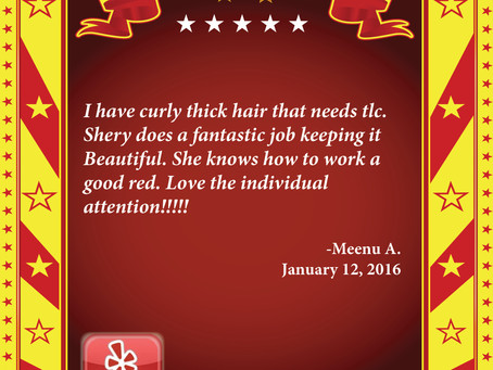 Thanks for the YELP!, Meenu A!