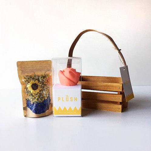 Organic Herb Tea & HEMP handkerchief GIFT BOX