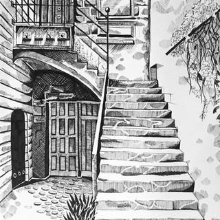 1 Maria Eduarda - Escadaria - Nankin sob