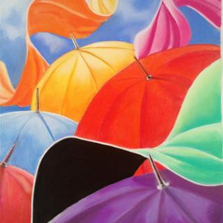 Lúcia Viani - Guarda chuvas - Giz paste
