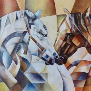 Eliana Bittencourt - Cavalos - Lápis de