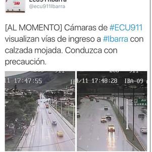 Lluvia generó problemas en Atuntaqui