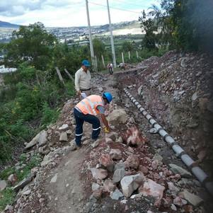 Convenio entre comunidad y empresa pública permite construcción de sistema de alcantarillado en Ibar
