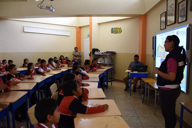En Otavalo escuelas se capacitan sobre gestión de riesgo por sismos