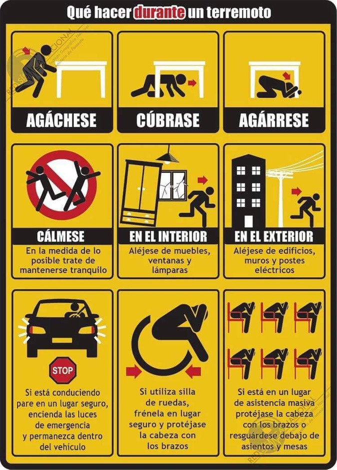 Recomendaciones de seguridad durante y después de un terremoto