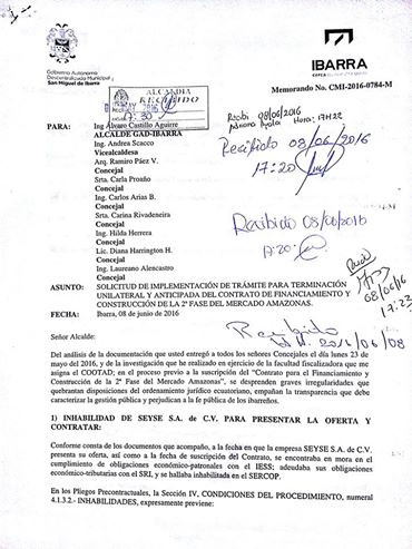 Concejal Mantilla denuncia presunta irregularidades en concesión de nuevo mercado Amazonas de Ibarra