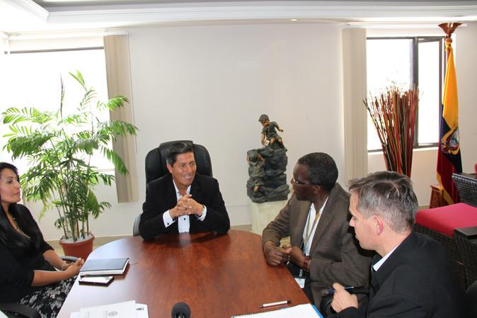 ACNUR y GPI mantienen reuniones para renovar convenios para atención a refugiados