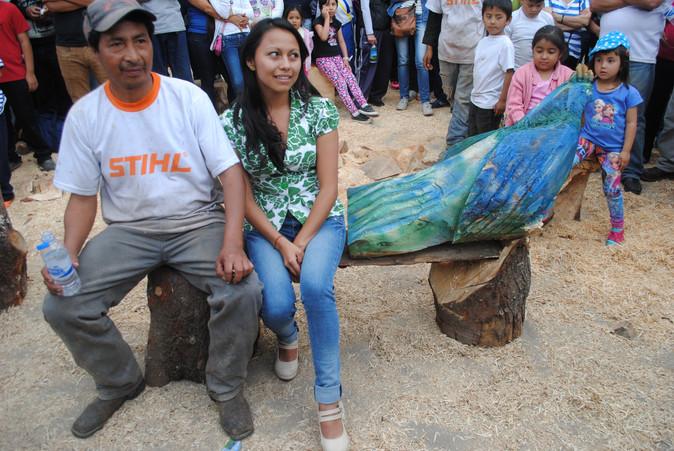 Ibarra fue sede del primer simposio de escultura con motosierra
