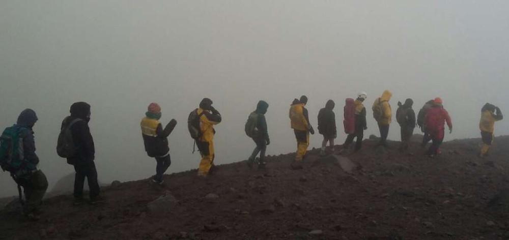 Servicios de emergencia de diferentes instituciones colaboran con la búsqueda (foto de ubicación)