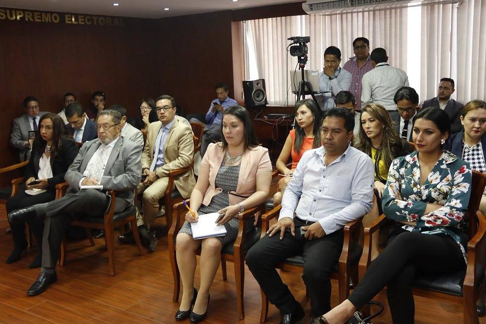Scacco estuvo presente durante la sesión del pleno (Foto: CNE Imbabura)