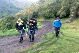 Los cuatro desaparecidos en volcán Imbabura retornaron a sus hogares. (Actualización)