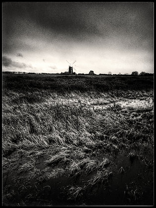 Tower windmill from across the marshes