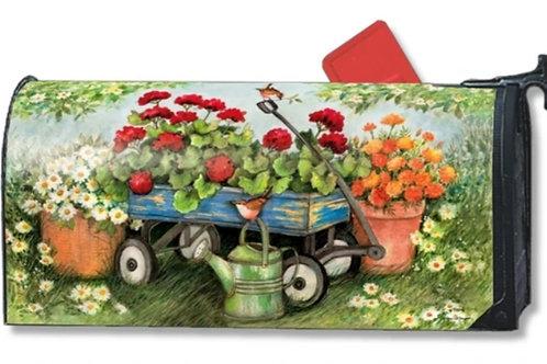 Geraniums by the Dozen Mailbox Cover