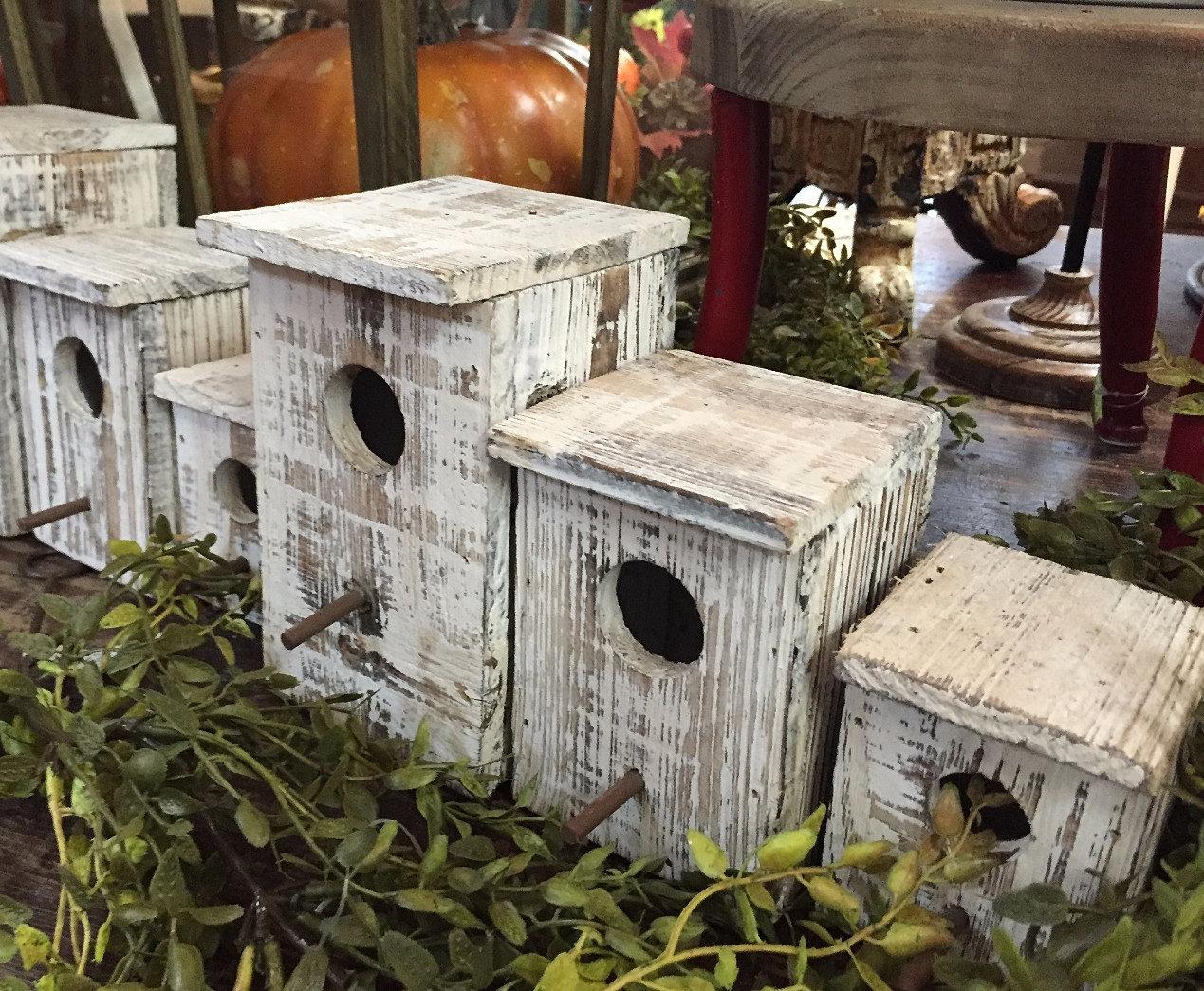Rustic Birdhouses Petals Potpourri Home Rustic Birdhouses