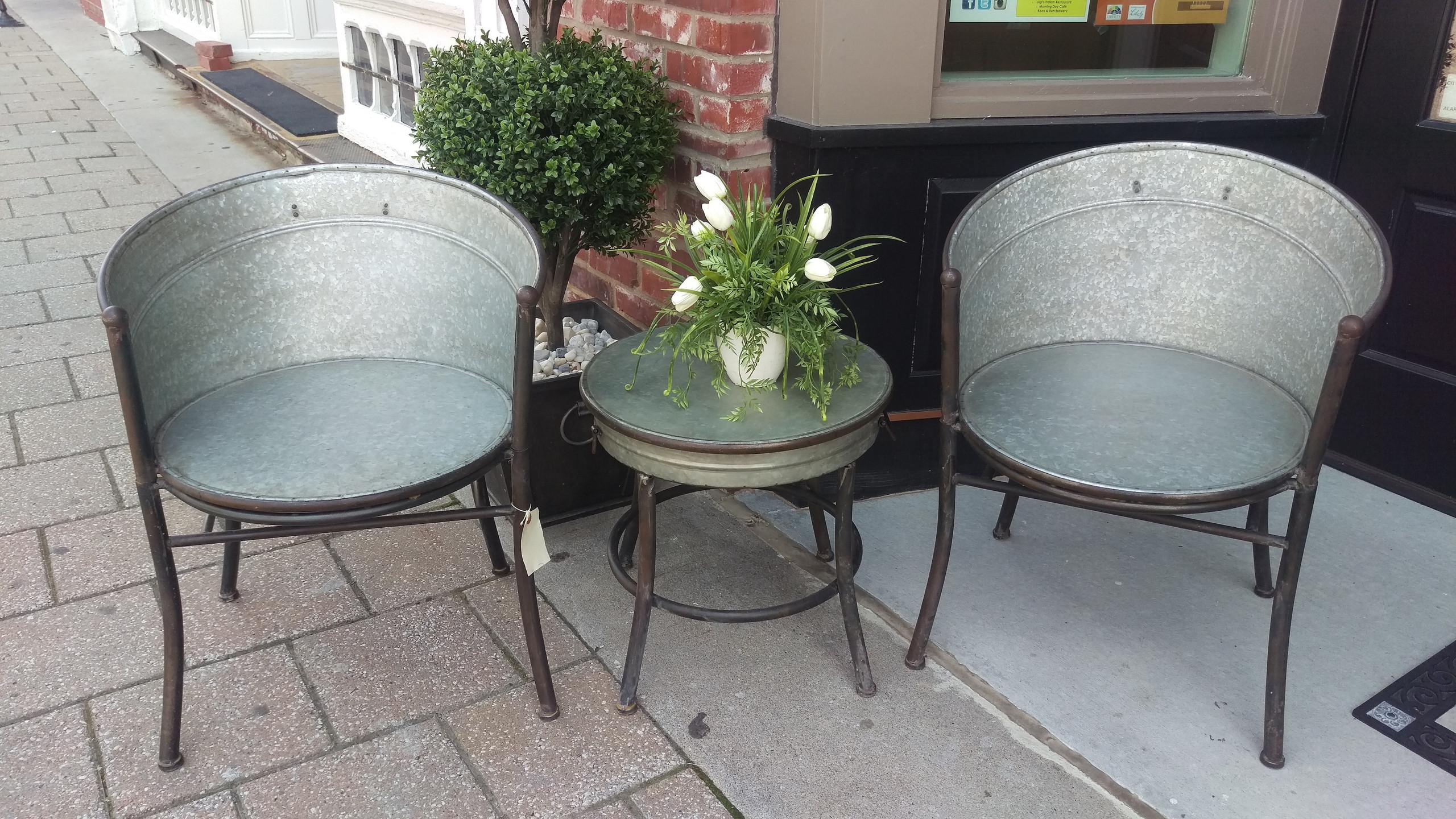 Galvanized Outdoor Furniture