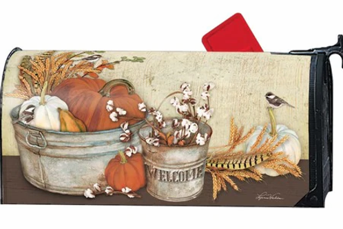 Harvest Blessings Mailbox Cover