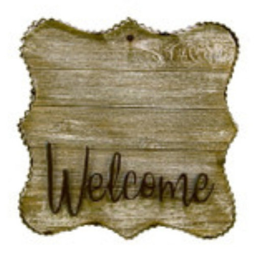 """""""WELCOME"""" Gallery Sign"""