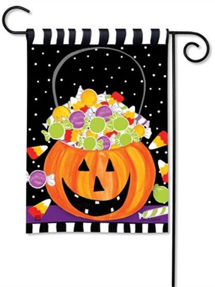 Halloween Candy Garden Flag