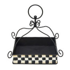 Checked Napkin Holder