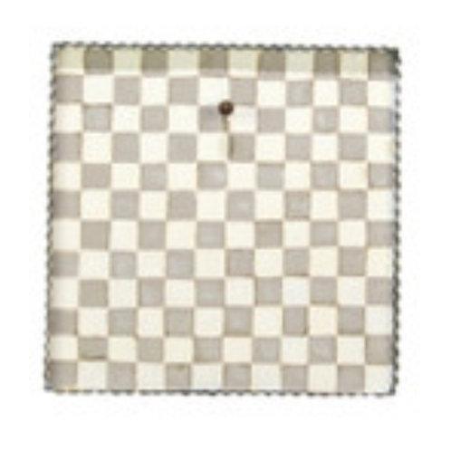 Gray & White Checked Gallery Board