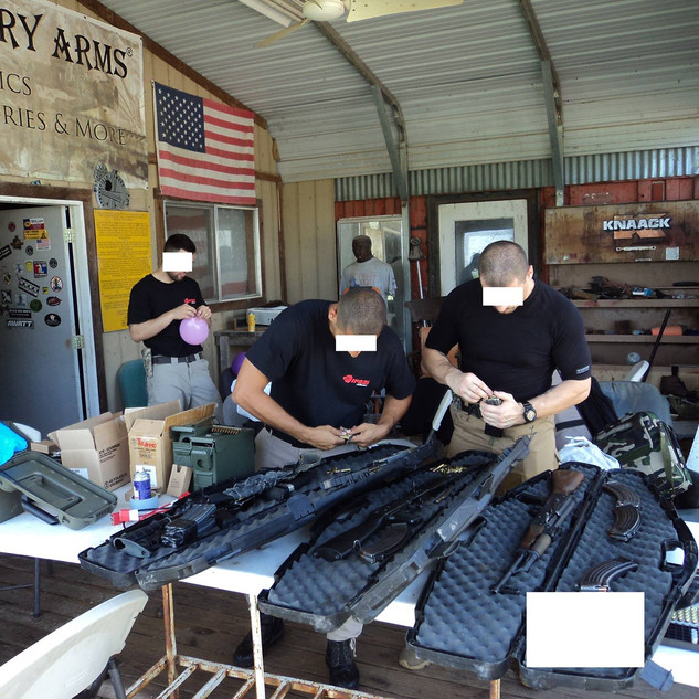 Weapons training in Houston