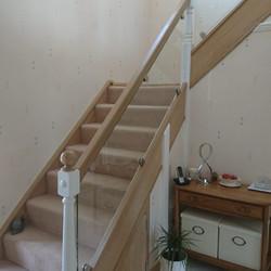 handmade staircase with glass balastrade