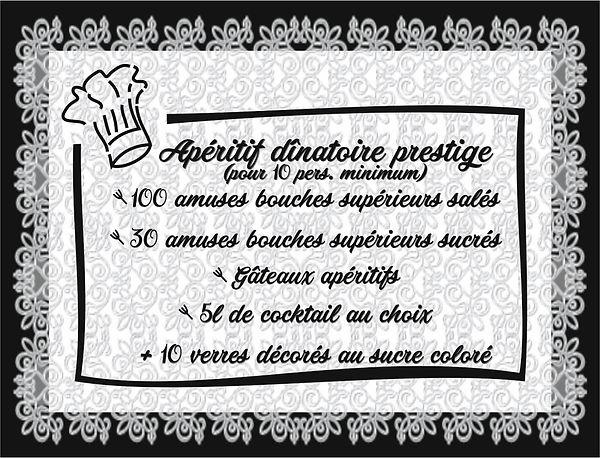 Aperitif dinatoire prestige