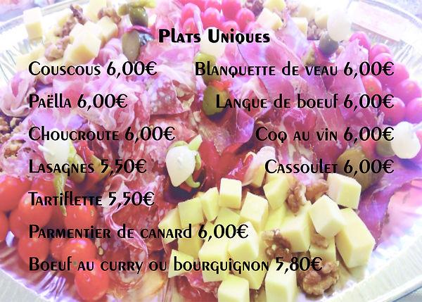 Traiteur, couscous, paëlla, choucroute, lasagnes, tartiflette