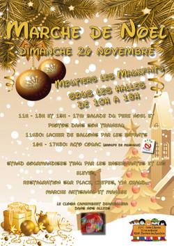 Affiche Marché de Noël APE