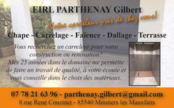 Carte de visite Gilbert PARTHENAY