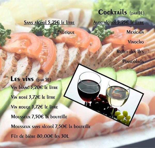 Cocktails et vins traiteur