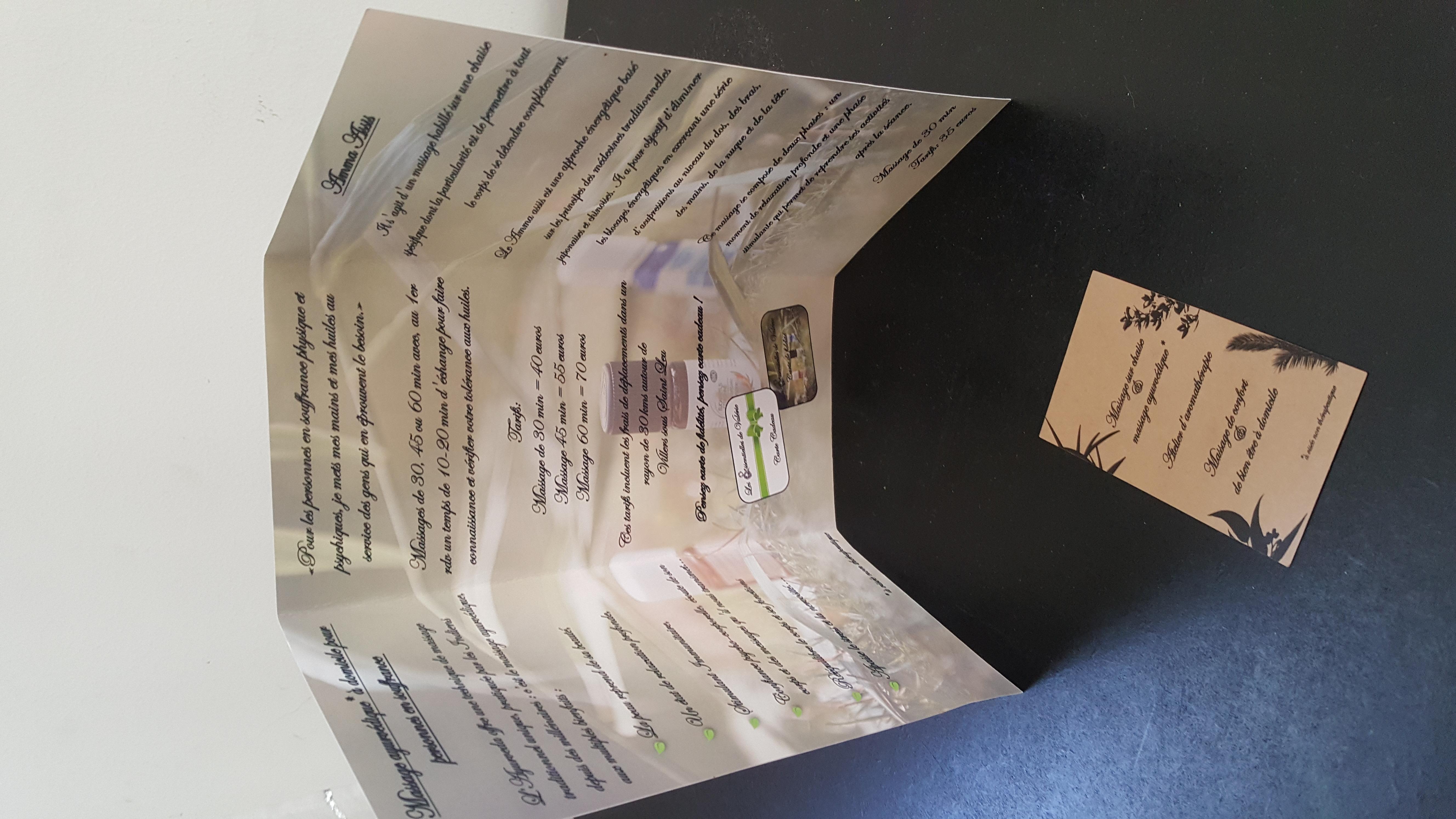 Brochure et carte de visite Aroma