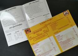 Cartes de restaurant