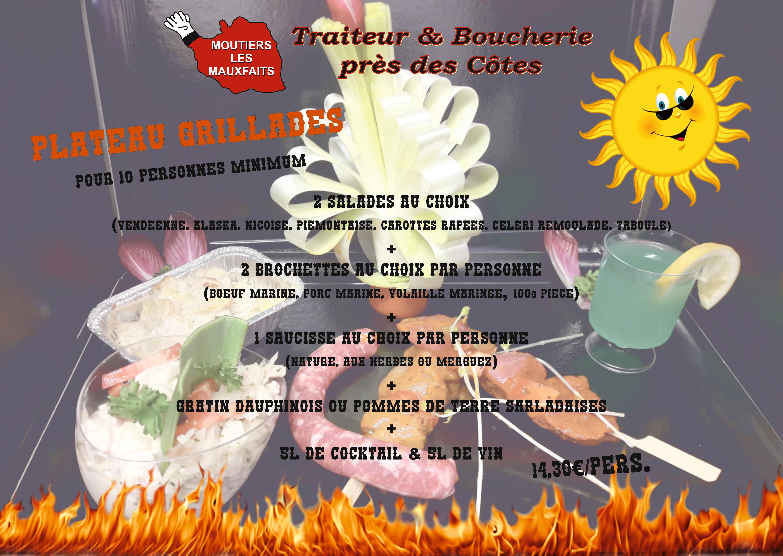 Plateau grillade Traiteur Boucherie