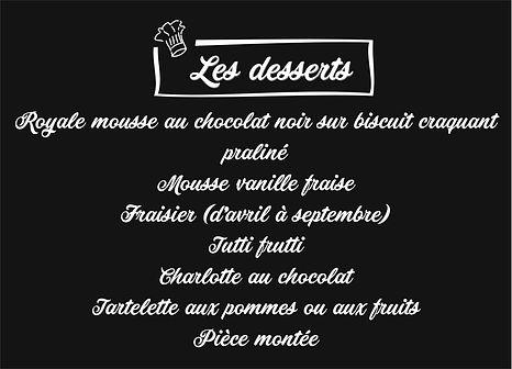 Les desserts traiteur prestige
