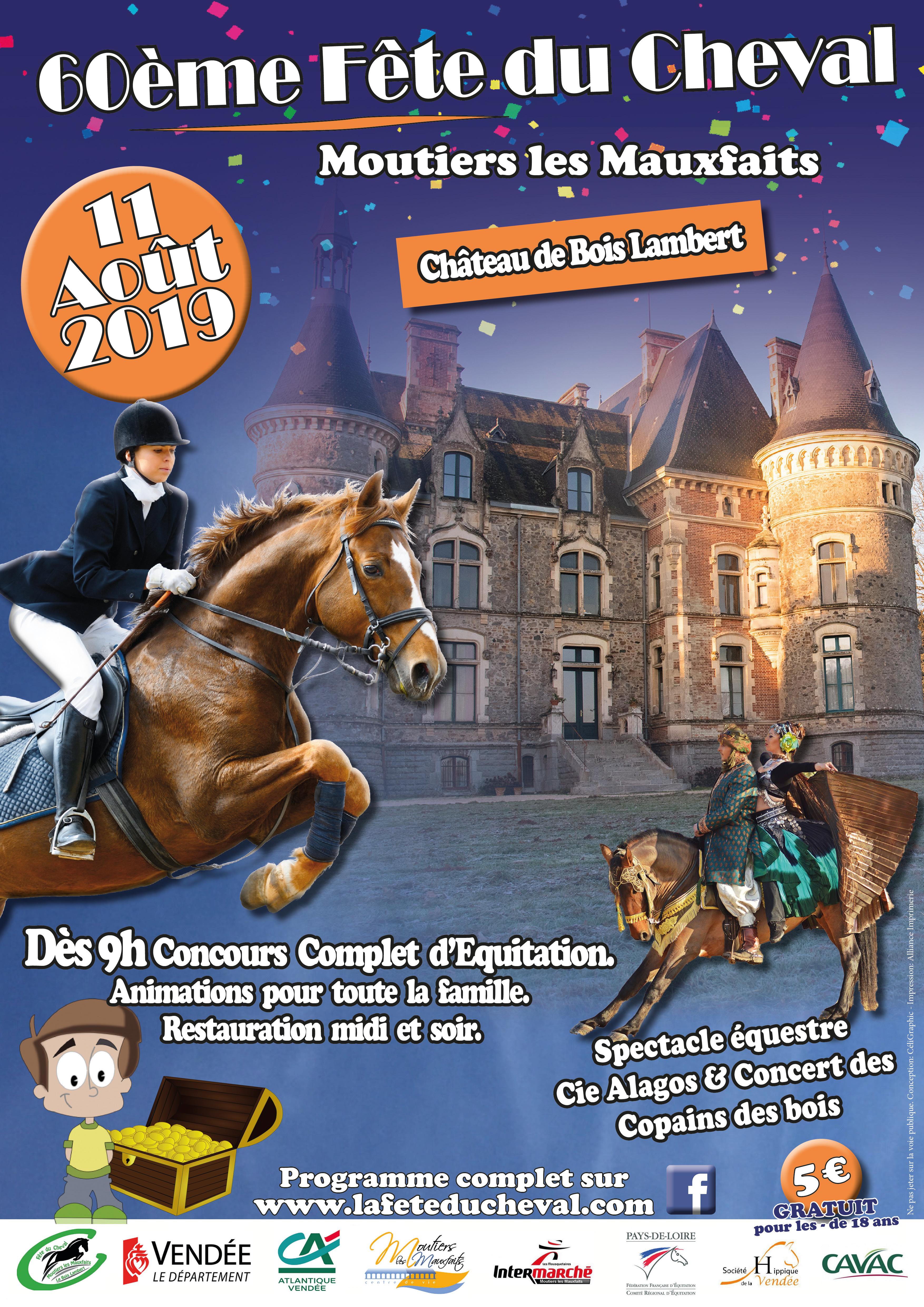 Affiche fête du cheval 2019