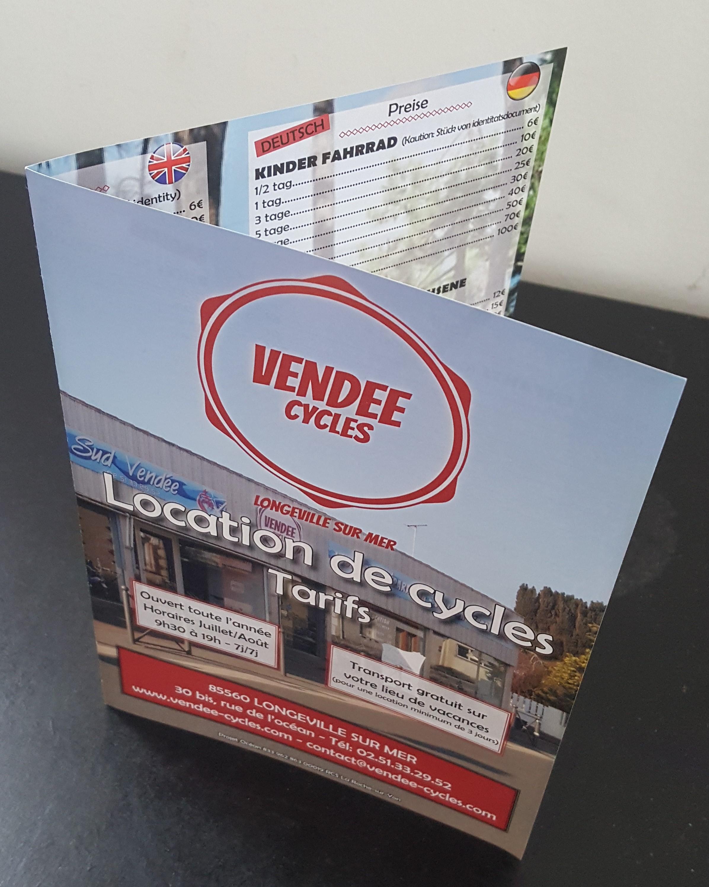 Dépliant Vendée Cycles