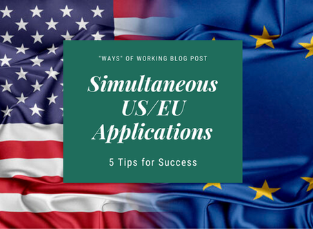 Simultaneous US/EU Submissions: 5 Tips for Success