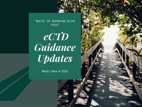 eCTD Guidance Updates – What's New in 2020