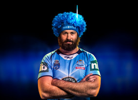Aaron Woods portrait for Star City Casino by Sydney advertising photographer Gary Sheppard