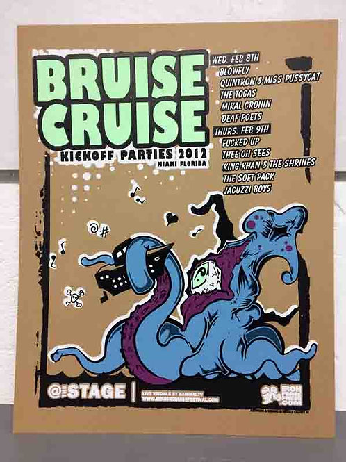 Bruise Cruise Concert Poster 2012