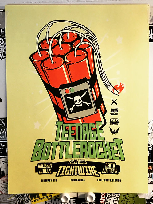 Teenage Bottlerocket Limited Edition Screen Printed Poster