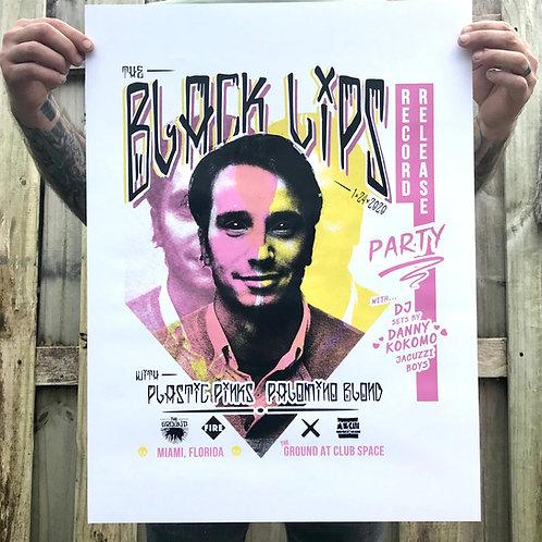 Black Lips Screen Printed Poster