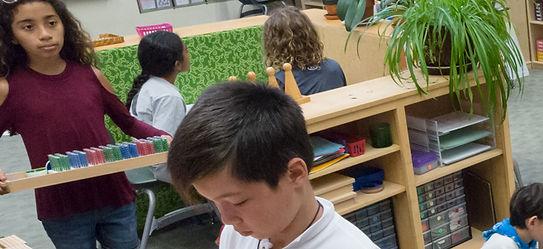 Montessori elementary school children