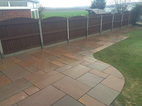 Autumn Brown Indian Stone Paving