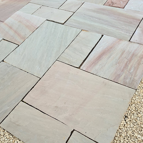 Rippon Rose Indian Stone Paving (per m2)