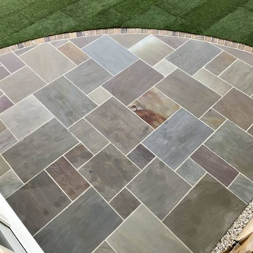 Raj Blend Indian Stone Paving (per 19.19m2 pack)