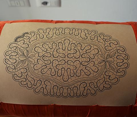 Centrino ovale Punto Mimosa